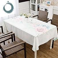 ZXTヨーロッパの牧歌的なテーブルクロス印刷小さな新鮮なスタイルの防水耐油布コーヒーテーブルのテーブル装飾テーブルクロス屋内と屋外の多機能テーブルクロスに適した - 幾何学模様 (Color : F, Size : 130*190CM)