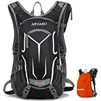 Arvano Mountain Bike Backpack Cycling Backpack - 18L Breathable Biking Backpack Lightweight Ski Rucksack with Rain Cover, Bicycle Backpack for Running Biking Skiing Fits Men Women [ Upgraded 2019 ]