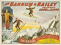 P。T。バーナムとベイリー–スキーSailingヴィンテージポスターUSA C。1907年 24 x 36 Signed Art Print LANT-61261-710