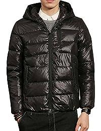 FOMANSH メンズ 全6色 ダウンジャケット 柔らかい ダウン コート 軽量 防風 防寒 暖かい 秋冬服 ファッション 上品 大きいサイズ M-5XL