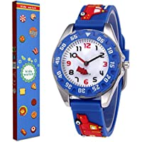 Kids Watch for Boys Girls Toddler Watch Digital Analog Wrist Waterproof Watches Kids' Time Teacher Watches with 3D Cute Cartoon Silicone Band, Best Kids Birthday Gifts for 3-10 Years Old Children
