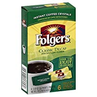 Folgers Classic Decaf Instant Coffee, Single Serve Packets, (Pack of 12) by Folgers
