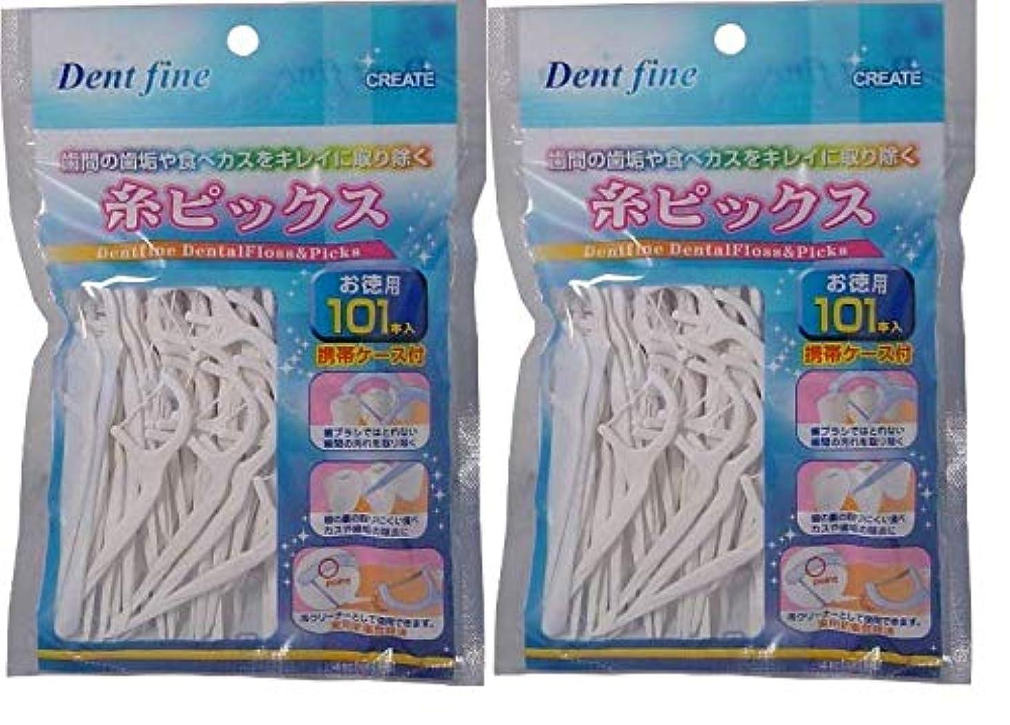 デントファイン 糸ピックス 101本入 2セット