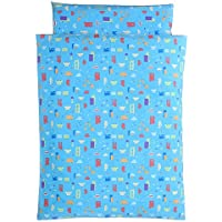 お昼寝 洗える布団 5点セット くるまサックス 日本製 (赤ちゃん用 固綿敷布団, ブラウンバッグ)