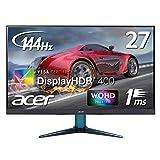 Acer ゲーミングモニター VG271UPbmiipx 27インチ/IPS/WQHD/144Hz/DisplayHDR 400/1ms/HDMI 2.0×2/DisplayPort v1.2×1/非光沢/Free-Sync