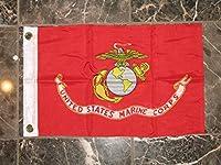 "12x 18Double Sided USMC Marine海兵隊2plyナイロンフラグ12"" x18""車ボート"