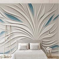 Ansyny 3D抽象的な抽象花ビュー壁紙壁画壁プリントデカール壁の装飾屋内壁壁画壁の装飾キッズ子供の壁紙-160X120CM
