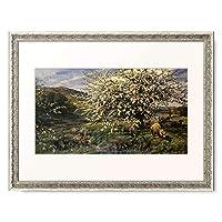 Davis, Henry William Banks,1833-1914 「Obstgarten mit Schafen im Fruhling (in Wales). 1909.」 額装アート作品