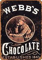 なまけ者雑貨屋 アメリカン 雑貨 ナンバープレート Webb's Chocolate ヴィンテージ風 ライセンスプレート メタルプレート ブリキ 看板 アンティーク レトロ