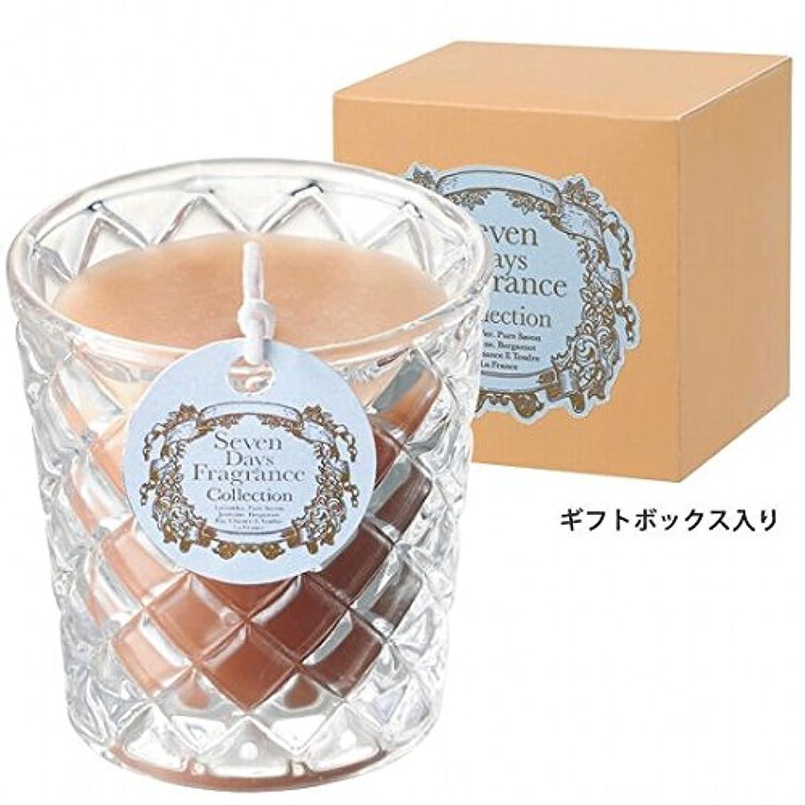 雄弁な滅多竜巻カメヤマキャンドル( kameyama candle ) セブンデイズグラスキャンドル(火曜日) 「 ジャスミン 」