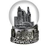 Cleveland Ohio Snow Globe Silver 65mm