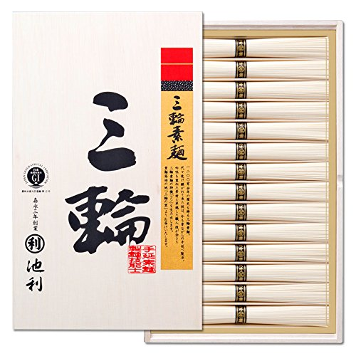 株式会社池利 三輪素麺「三輪」 (50g×28束)(約18人前) 御礼