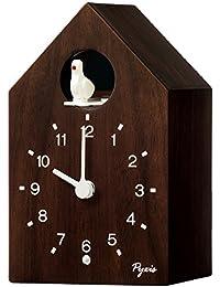 セイコー クロック 掛け時計 置き時計 兼用 アナログ かっこう時計 数取り PYXIS ピクシス 木枠 茶木地 NA609B SEIKO