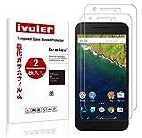 【2枚入り】Huawei Google nexus 6p 専用強化ガラスフィルム iVoler 9H硬度の液晶保護フィルム 耐指紋 撥油性 高透過率 2.5D ラウンドエッジ加工