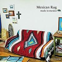 RUG&PIECE メキシコ製 ネイティブ柄 メキシカンラグマット 200cm×120cm (rug-6726)