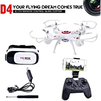 Dwi Dowellin RC Drone with VR Glass FPV WIFI 720P HD Camera Live Video 2.4Ghz RC Quadcopter with Altitude Hold One Key Return and Headless Mode Function RTF Helicopter UAV D4W1-MV100 [並行輸入品]