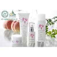 桃姫4点セット(洗顔料、化粧水、保湿クリーム、美容液)