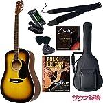 HONEY BEE アコースティックギター W-15M/TS マットフィニッシュモデル 初心者入門リミテッドチューナーセット[クリップチューナー]