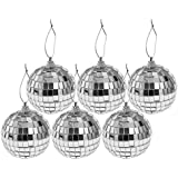 Perfeclan クリスマス ミラーボール 球状 クリスマスパーティー ツリー飾り 多仕様選べ - 6個6cm