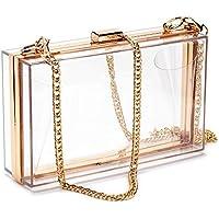 Clear Purse Acrylic Box Evening Clutch Bag Shoulder Handbag Chain Purse Women
