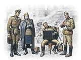 ICM 1/35 ソビエト兵 (兵士3体&女性1体) ベルリン1945年5月 プラモデル 35541