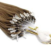 FidgetGear 7A 50S Remyの人間の毛髪延長ループマイクロリングシリコーンビーズ16-26Inch #10ミディアムゴールデンブラウン