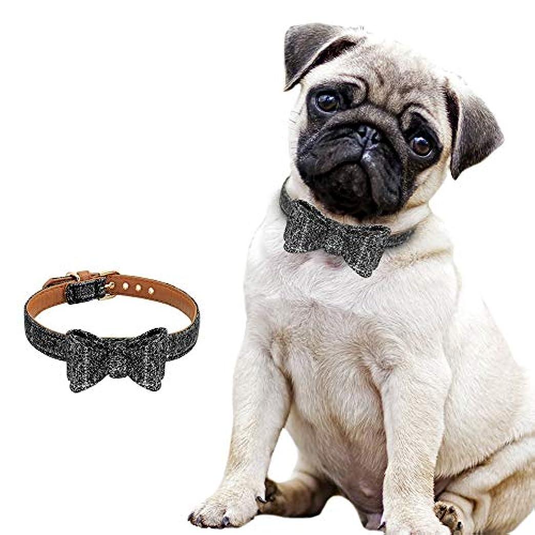 すり減るゼリー適応するXUTXCKA 調整可能なちょう結びペット犬猫襟格子縞の子犬子猫の首輪ネックレス小中犬猫