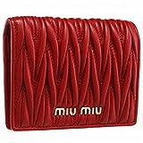 MIUMIU(ミュウミュウ) 財布 マテラッセ 二つ折り ミニ財布 二つ折り財布 二つ折り財布 5MV204 N88 68Z [並行輸入品]
