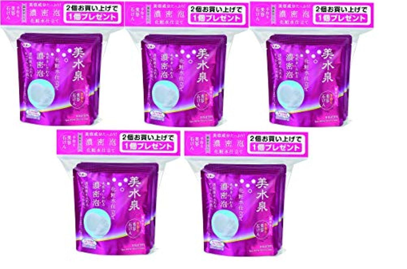 に付ける広範囲にハイキング美水泉 手作り美容石けんお得な3個入り ×5 (15個入り!)