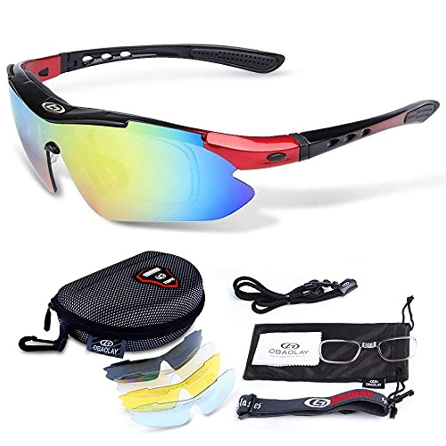 不利欠員離婚偏光レンズ スポーツサングラス フルセット専用交換レ超軽量 UV400 紫外線カット ンズ5枚 ユニセックス 5カラー
