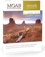 "MoabエントラーダコレクションRag Fineアート、2-side自然マットインクジェット用紙、15.5Mil。、190gsm、8.3X 11.7"" (a4), 25シート"