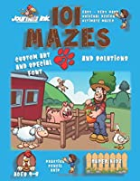 101 Mazes For Kids 1: SUPER KIDZ Book. Children - Ages 4-8 (US Edition). Farm Animals custom art interior. 101 Puzzles with solutions - Easy to Very Hard learning levels -Farmer & Animals -Unique challenges and ultimate mazes book for fun activity time!