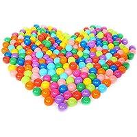 Langba カラーボール プラスチックボール ポップルボール オーシャンボール 子供用 玩具ボール ゲーム やわらか ポリエチレン製 プール/ボールプール/ボールハウス用