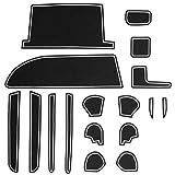 トヨタ 80系 ノア ヴォクシー 専用設計 ゴム ラバー ポケットマット グロー 夜光 ホワイト 17点セット 傷 異音防止