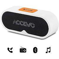 ポータブル Bluetooth スピーカー ACCEVO Bluetooth 4.0スピーカー コンパクト ワイヤレスステレオスピーカー 高音質 小型 ポータブル 重低音 大音量 ステレオ ウーファー 内蔵マイク搭載 お風呂最適 Iphone / Android 各種対応 ホワイト