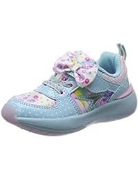 [シュンソク] 運動靴 通学履き 瞬足 軽量 Cream クリーム 15~23cm 1.5E キッズ 女の子