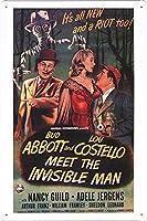 映画の金属看板 ティンサイン ポスター / Tin Sign Metal Poster of Movie Abbott and Costello Meet the Invisible Man