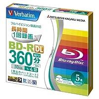 三菱化学メディア 録画用BD-R DL X4 5枚ケース VBR260YP5V1 00021455
