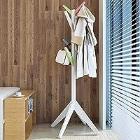 CHUNLAN コートラック 美しい実用的な寝室のハンガーソリッドウッドランディングコートラック (色 : Multi-color)