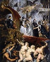 ¥5K-200k 手書き-キャンバスの油絵 - 美術大学の先生直筆 - The Landing of Marie de Medici at Marseilles ピーテル・パウル・ルーベンス 絵画 洋画 複製画 ウォールアートデコレーション -サイズ05