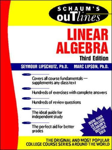 Download Schaum's Outline of Linear Algebra (Schaum's Outlines) 0071362002