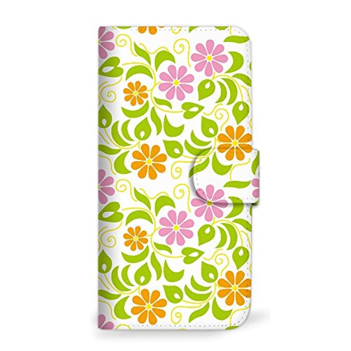 モード全体労働mitas Galaxy S8 Plus SC-03J ケース 手帳型  花 花柄 花がら フラワー ウォーム (342) SC-0030-WA/SC-03J