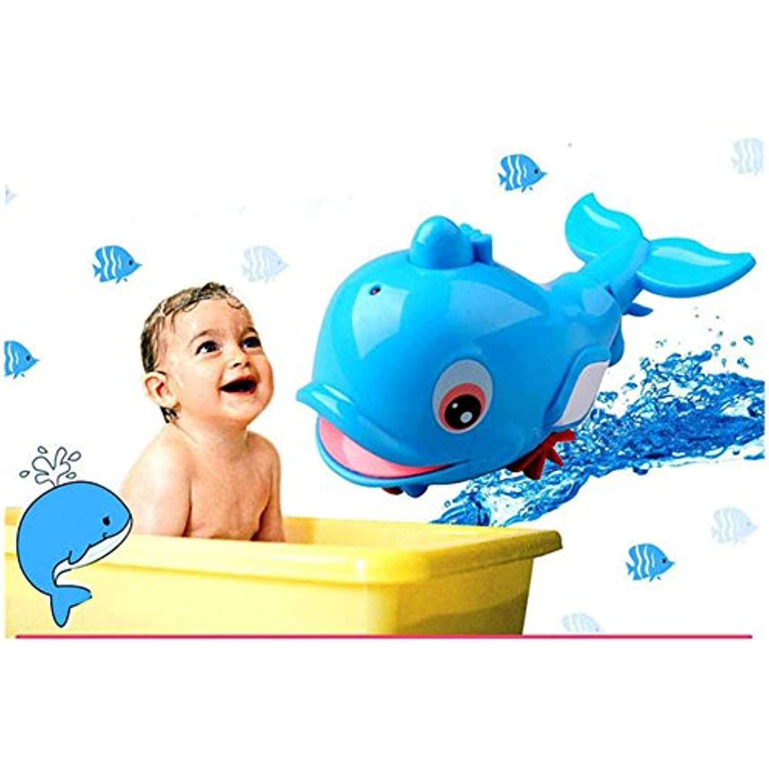 smtsmt Babies Swim Dolphin wound-upチェーンSmall Animal Bathおもちゃクラシックおもちゃ