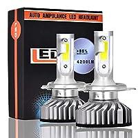 ヘッドライト 4200lmスーパーブライト6500KホワイトハイパワーミニH4 9003 LEDヘッドライト変換キットランプ交換 LEDバルブ (Style : H4/9003, Wattage : 6000K)