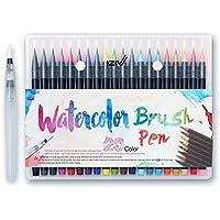 iZiv 1本で2つの描き味 カラーペン?毛筆2wayペン先水彩毛筆60色セット イラスト?デザイン?漫画?塗り絵など 幅広く使えます 入園 入学 子供の日 プレゼン 景品 賞品 (20色)