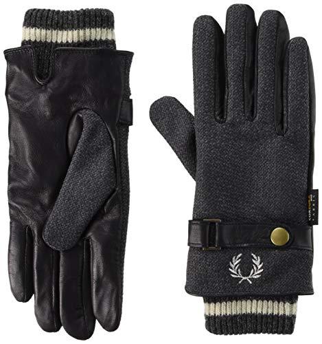 [フレッドペリー] 手袋 Woven/Leather Mix Gloves F19910 30_GREY 日本 L (日本サイズL相当)