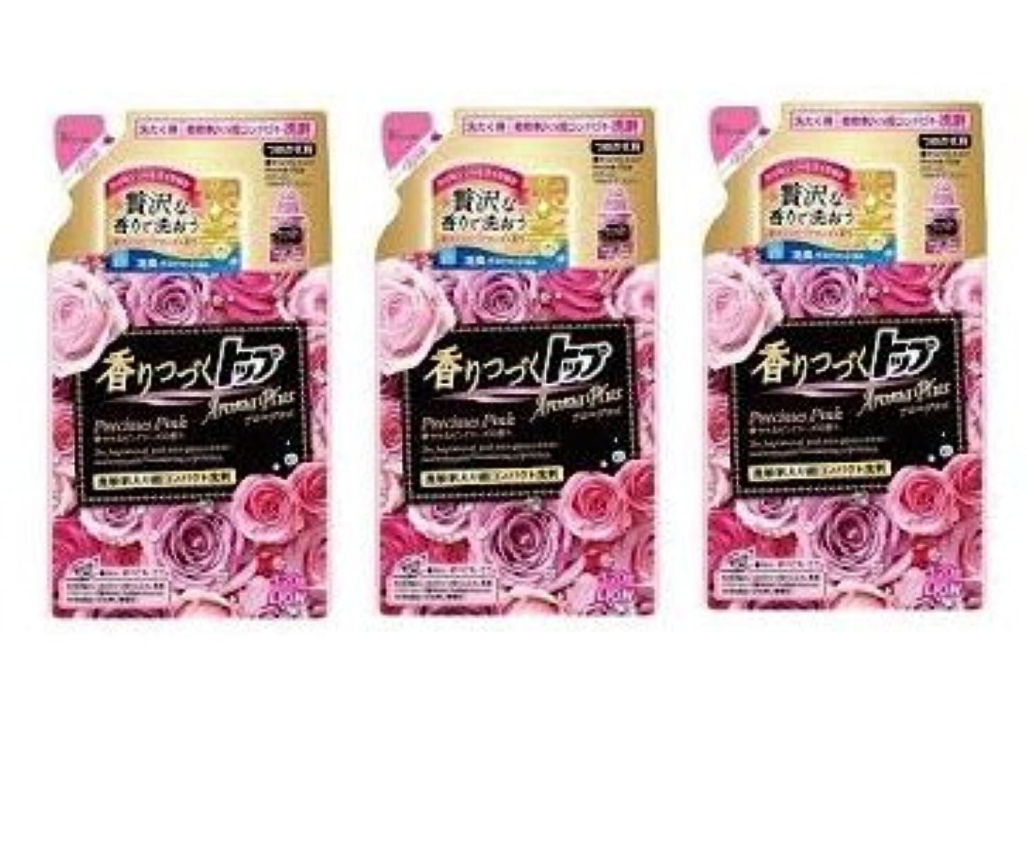 悪夢寝るまたは【まとめ買い】香りつづくトップ アロマプラス 洗濯洗剤 液体 プレシャスピンク 詰め替え 320g × 3個