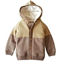 Dealone Baby Boys Girls Cardigan Toddler Hoodies Sweaters Cotton Warm Knit Outerwear