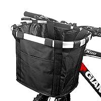 自転車カゴ 前 バスケット 折り畳み 脱着 サイクリング バッグ 小径車に最適