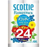 スコッティ フラワーパック 2倍巻き トイレット12ロール 100mシングル
